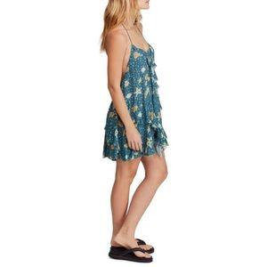 Free People Sunlit Print Mini Dress